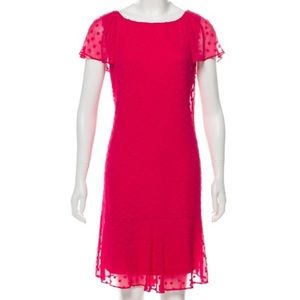 Karl Lagerfield hot pink flutter sleeve dress 8